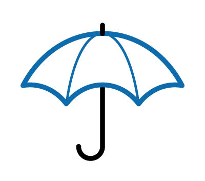 Icon of a umbrella