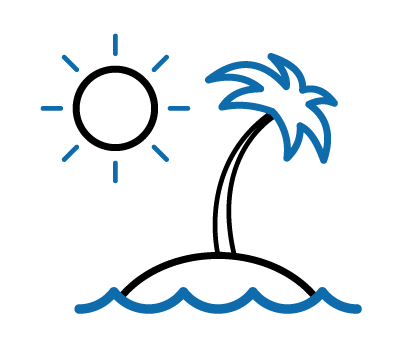Icon of a beach island