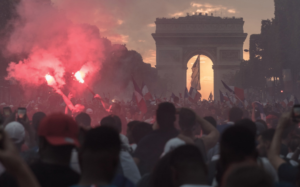 A protest in France