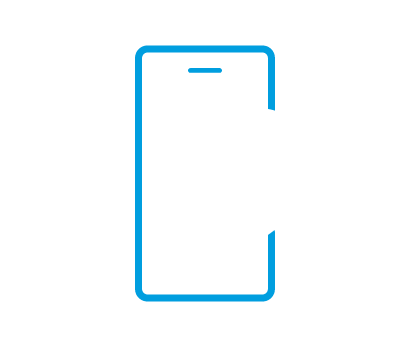 Icon of a phone with tracking