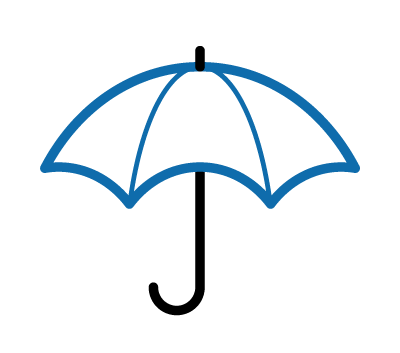 Icon of an umbrella